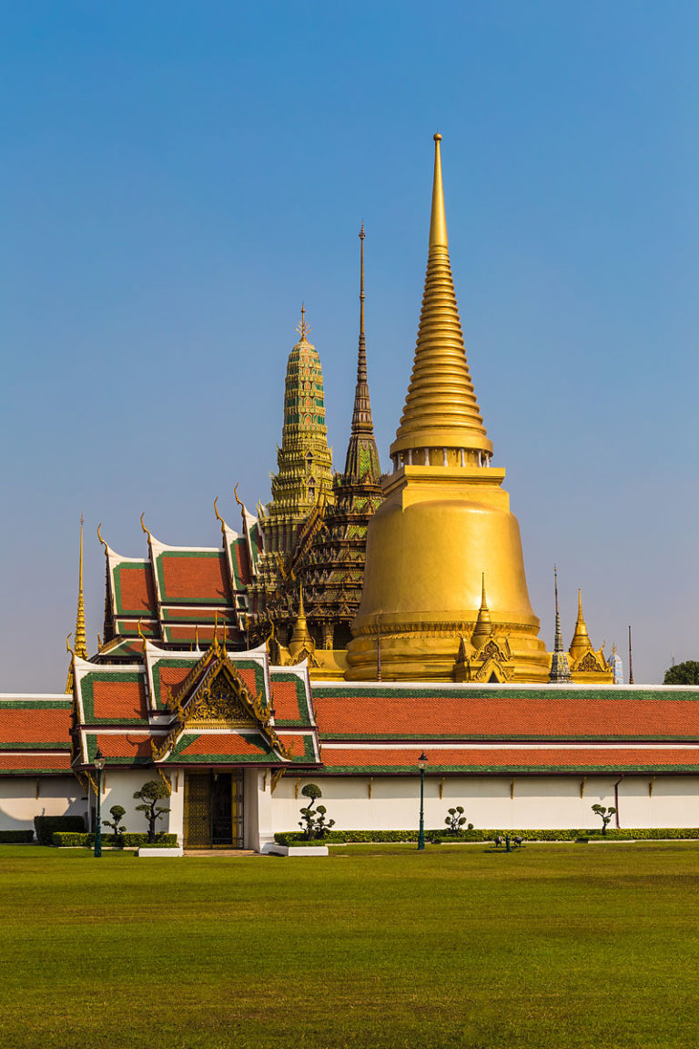 The Temple of the Emerald Buddha (Wat Phra Kaeo) in Bangkok, Thailand