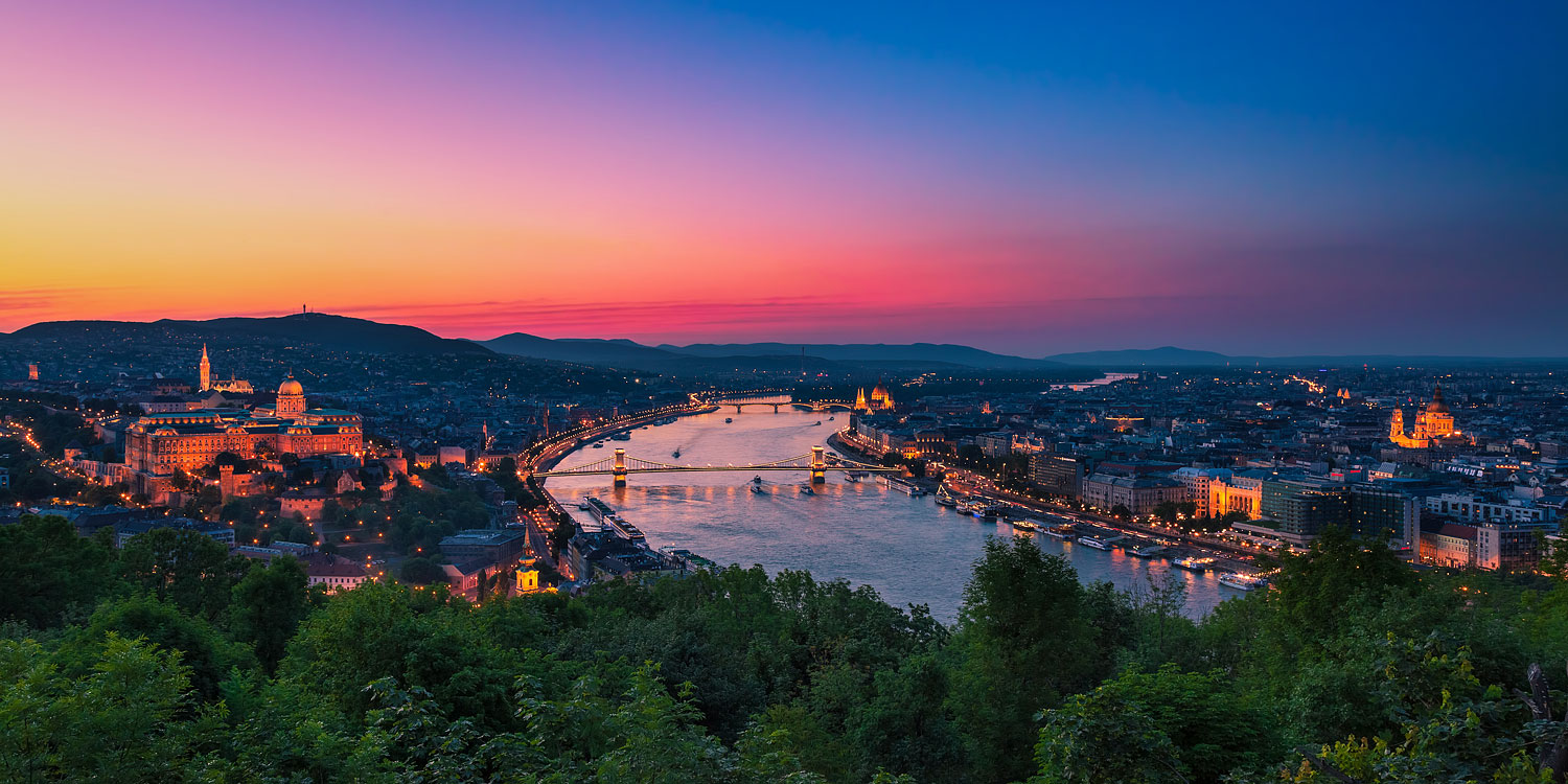 Panorama of Budapest with the Castle and the Danube