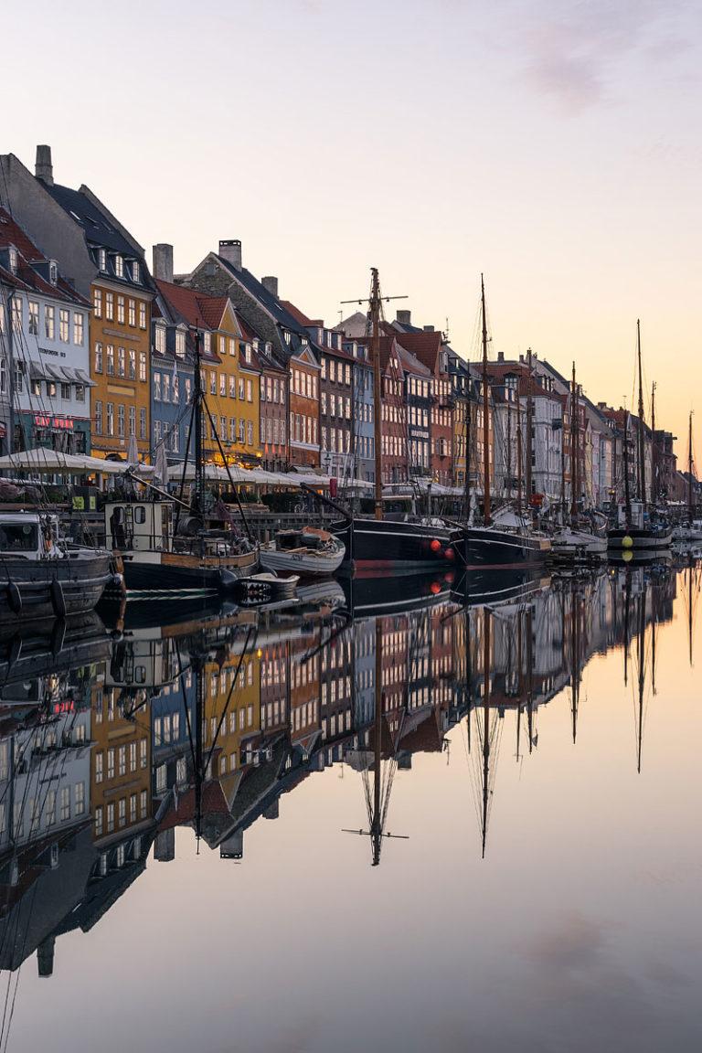 Nyhavn at Sunrise, Copenhagen, Denmark