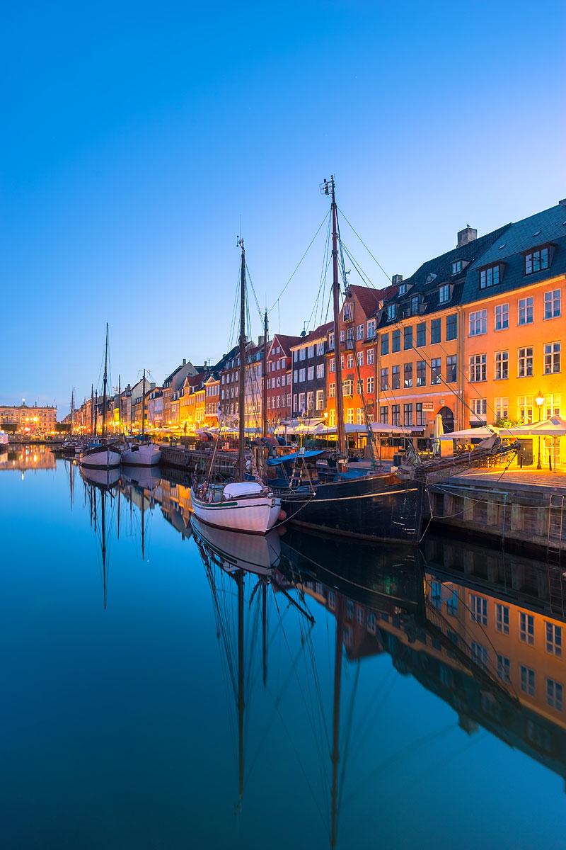 Nyhavn at Dawn, Copenhagen, Denmark