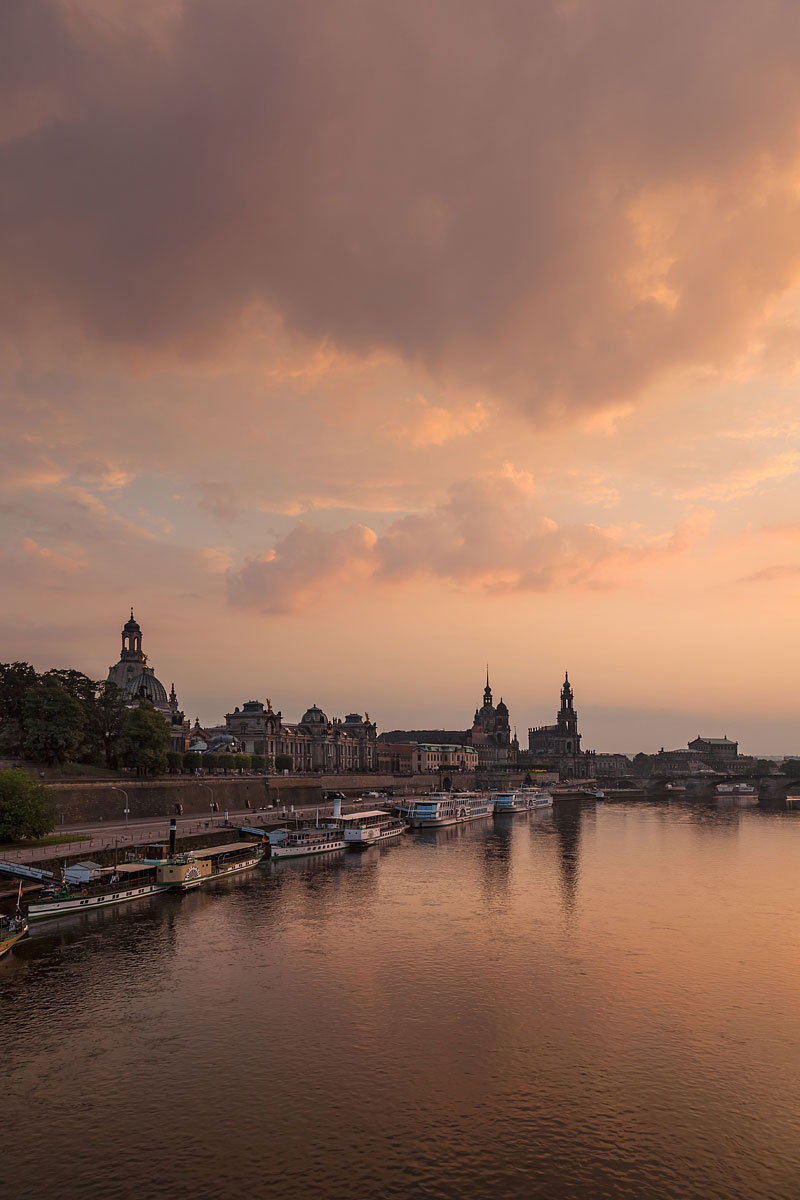 Dresden Skyline at Sunset, Germany