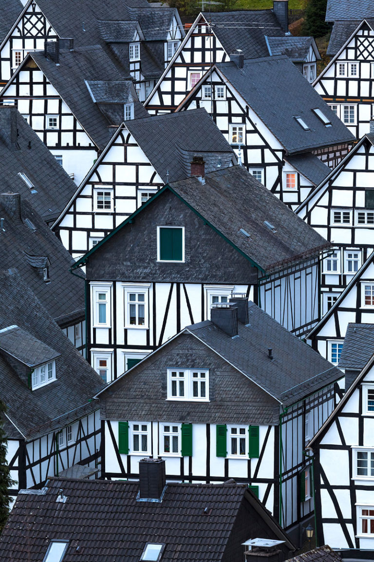 Freudenberg is a small town near Siegen in Germany. It is famous for its historic core built wholly of half-timbered houses.