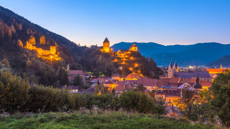 Friesach, Austria - Evening Panorama of the Town