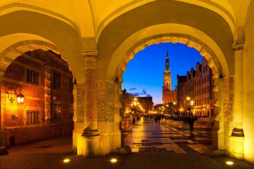 The Long Market in Gdansk, Pomerania, Poland