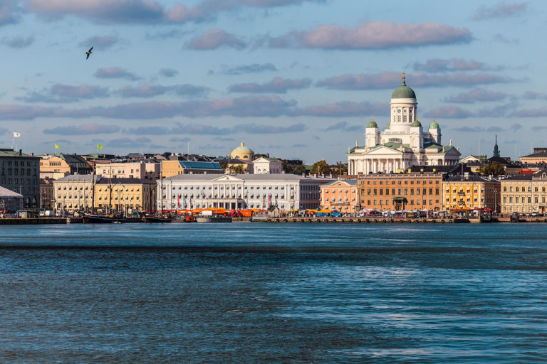 Helsinki Skyline as Seen from the Ferry Departing for Tallinn