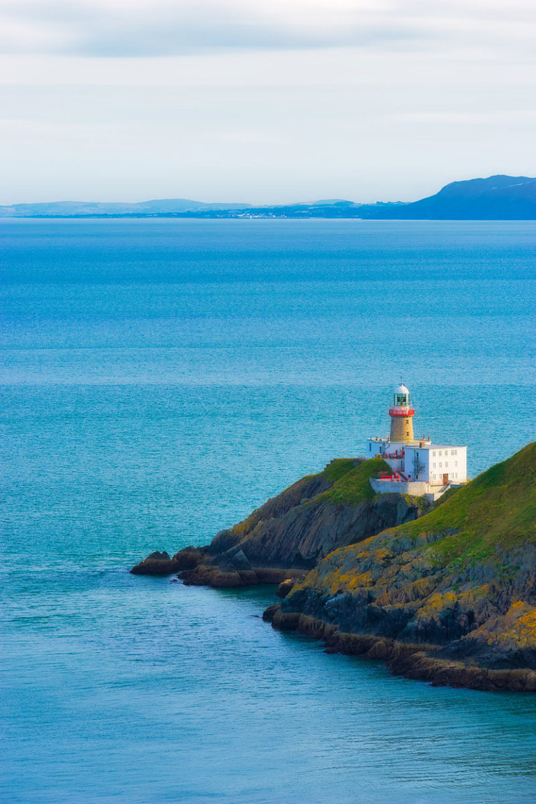 The Baily Lighthouse and Dublin Bay, as Seen from Howth, Ireland.