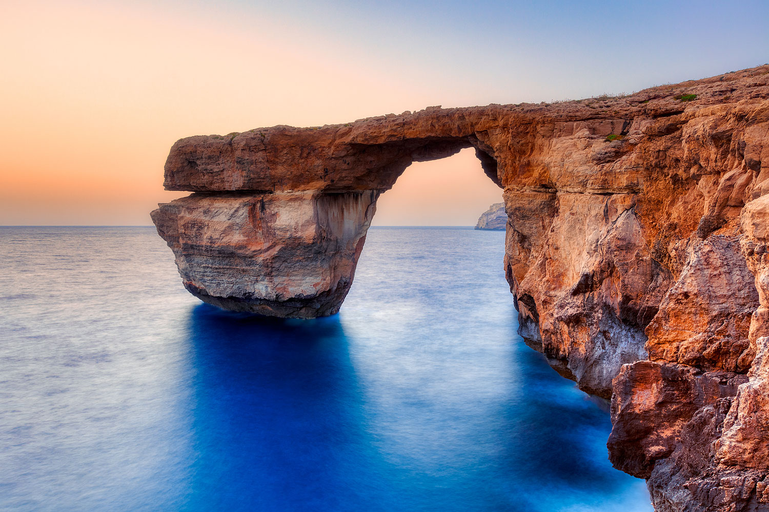 The Azure Window - natural arch on the coast of the Maltese island Gozo