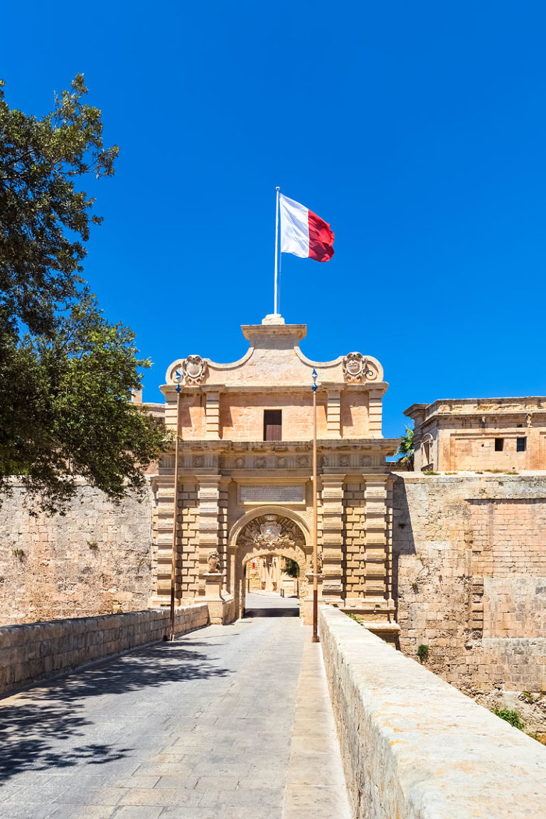 City Gate in Mdina - Former Capital City of Malta
