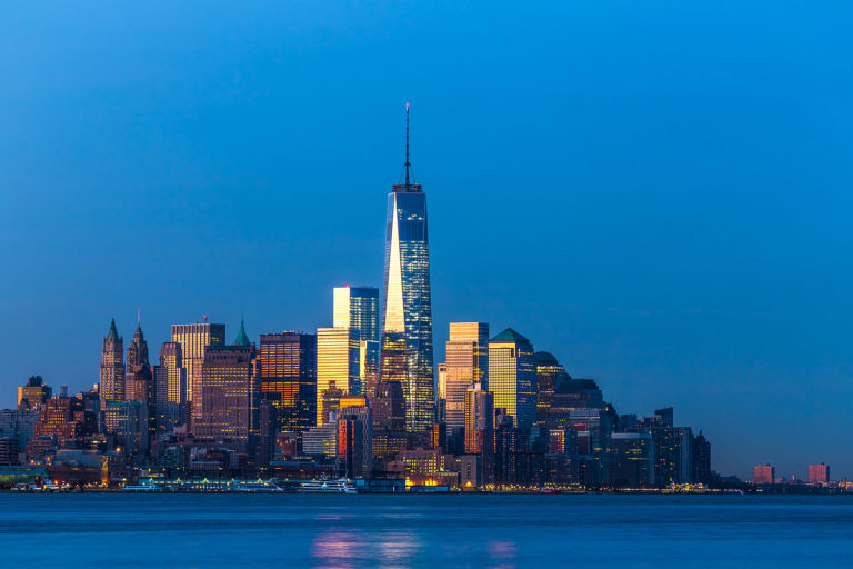Lower Manhattan Skyline at the Break of Dawn, New York City