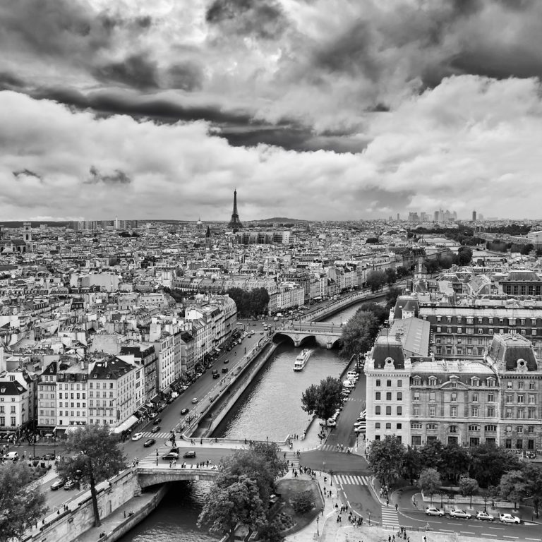 Panorama of Paris with the Seine