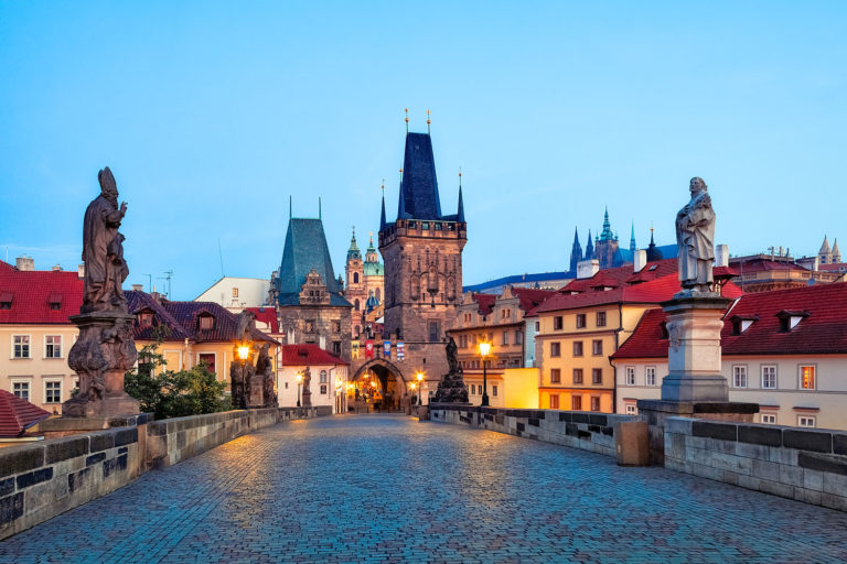 Charles Bridge in Prague at Dawn, Czechia