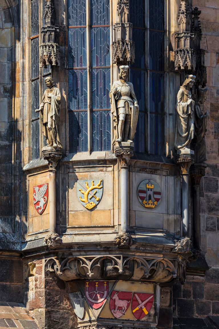 Prague, Czechia - Detail of the Old Town City Hall