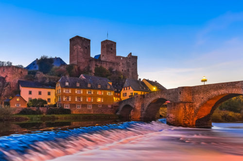 The Town of Runkel near Limburg and der Lahn, Hesse, Germany
