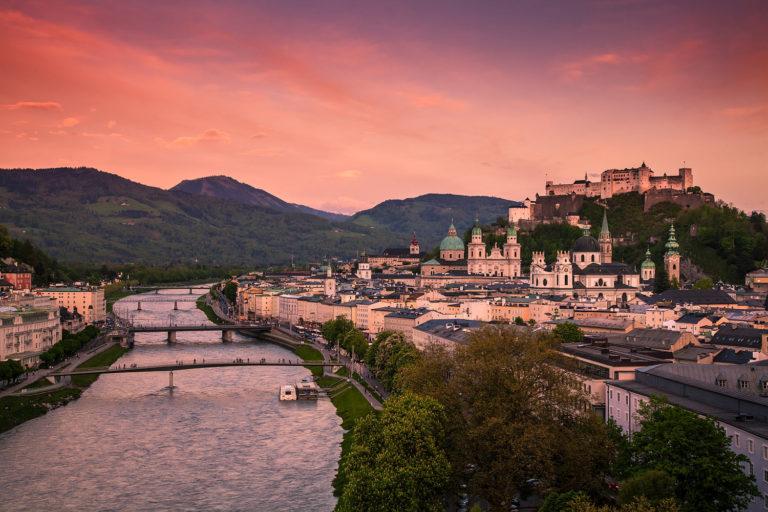 Salzburg at Dusk, Austria