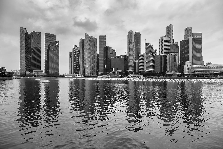 Singapore Skyline as Seen from Marina Bay