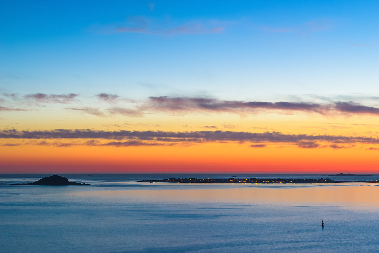 Alesund (Ålesund), Norway - Spectacular Sunset Colors and Cloud Formations over Valderhaugfjorden
