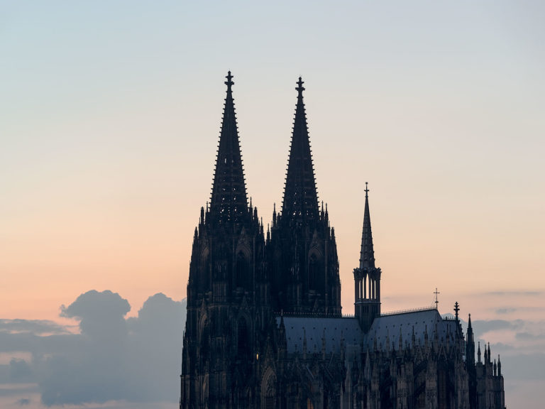 Gothic Cathedral in Cologne (Köln), Germany at SunsetThe Gothic Cathedral in Cologne is a UNESCO World Heritage Site and one of Germany's most visited tourist attractions.