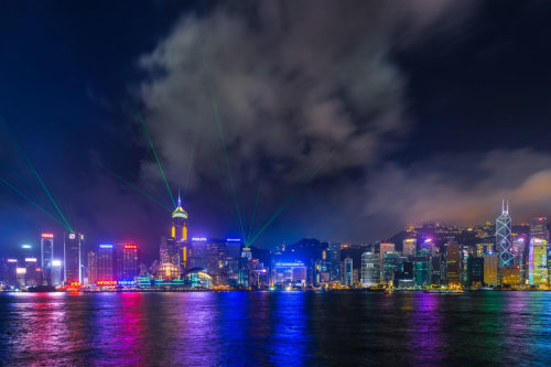 Light and Laser Show in Hong Kong