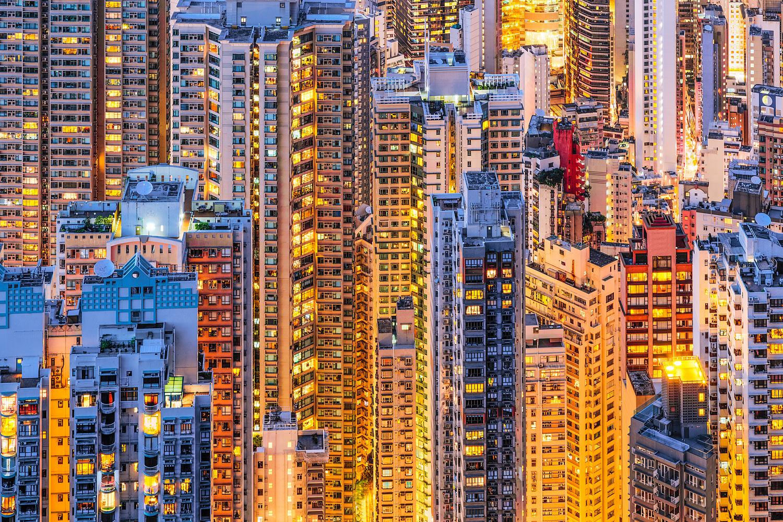 Living in Hong Kong - Highrise Apartmemt Buildings on Hong Kong Island