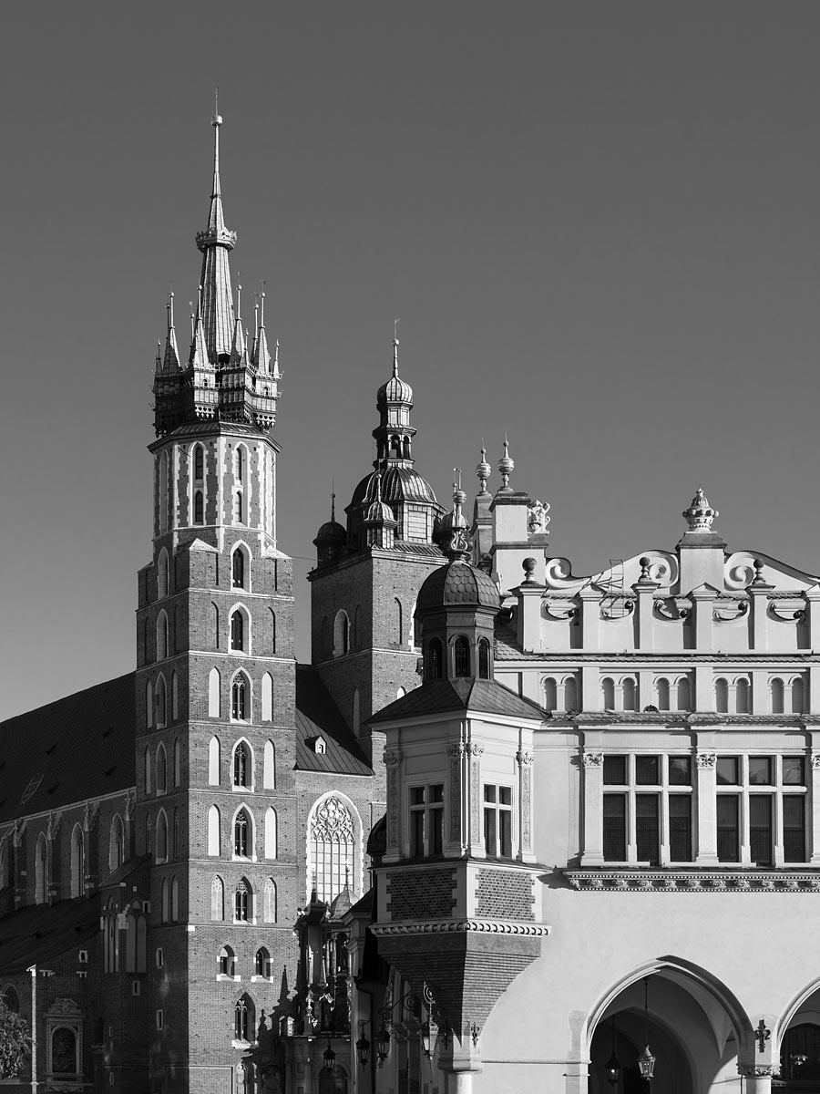 Krakow, Poland - St. Mary's Basilica and the Cloth Hall