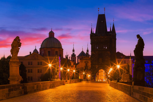 Prague, Czechia - Charles Bridge at Dawn