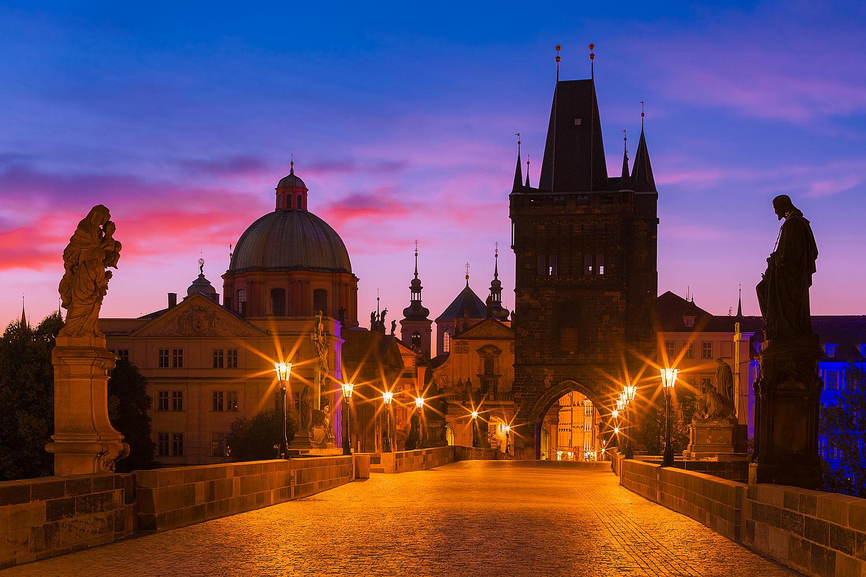 Prague, Czechia - Charles Bridge at Dawn