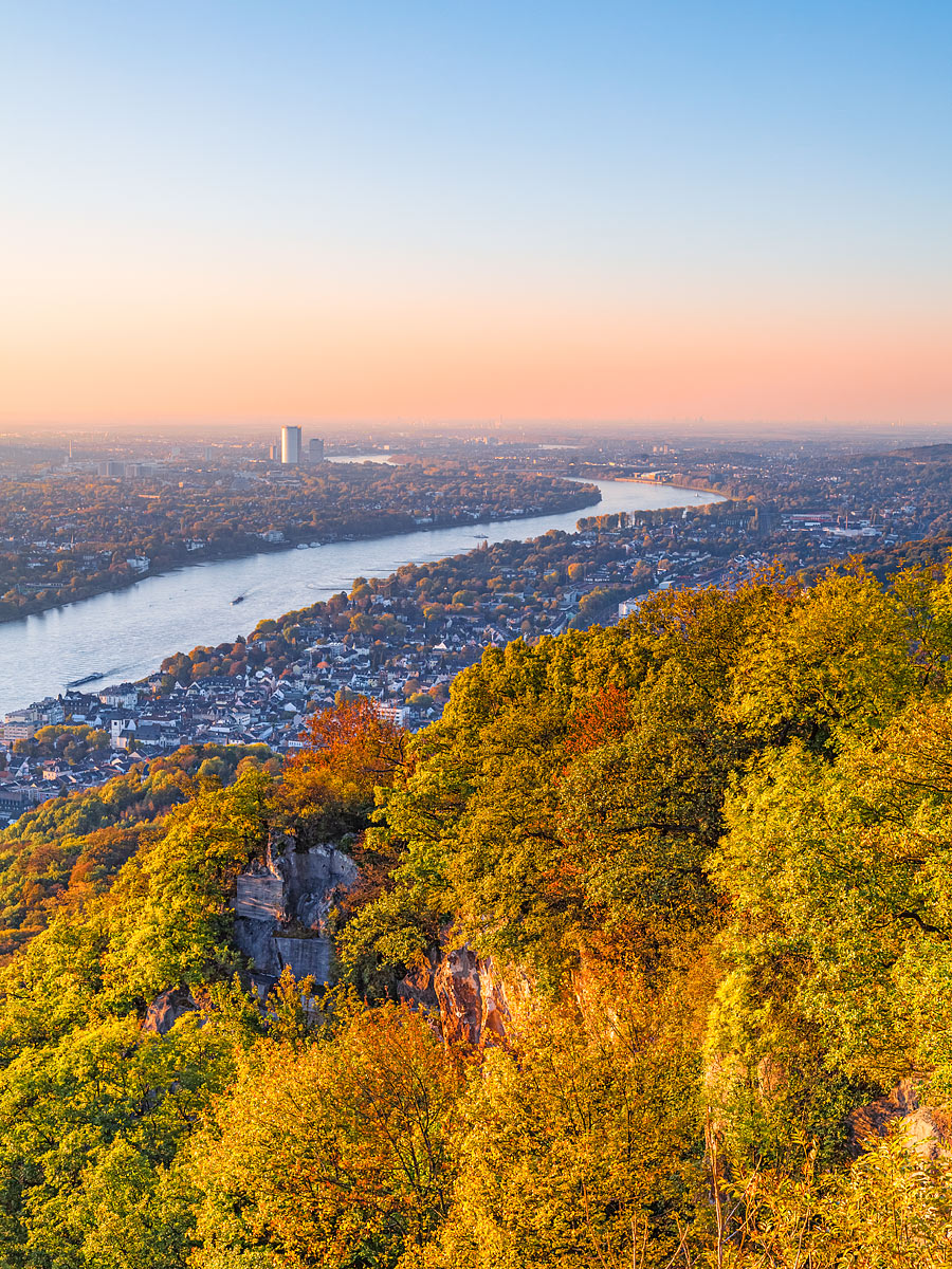 Königswinter, Germany - The View from the Drachenfels towards the Rhine