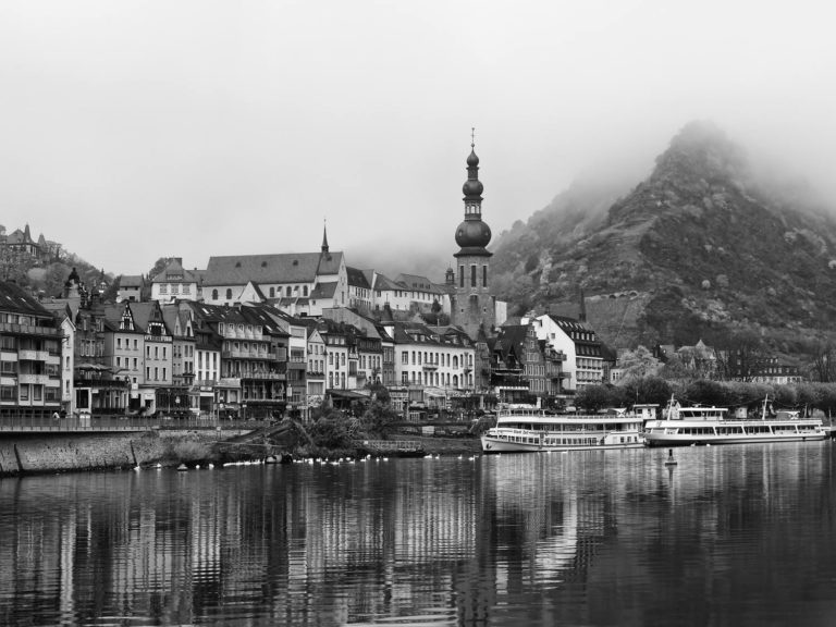 Mist over the town of Cochem in Rhineland-Palatinate, Germany