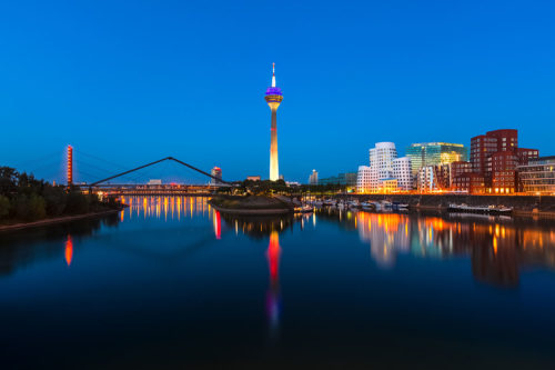 Düsseldorf, Germany - City Skyline at Night