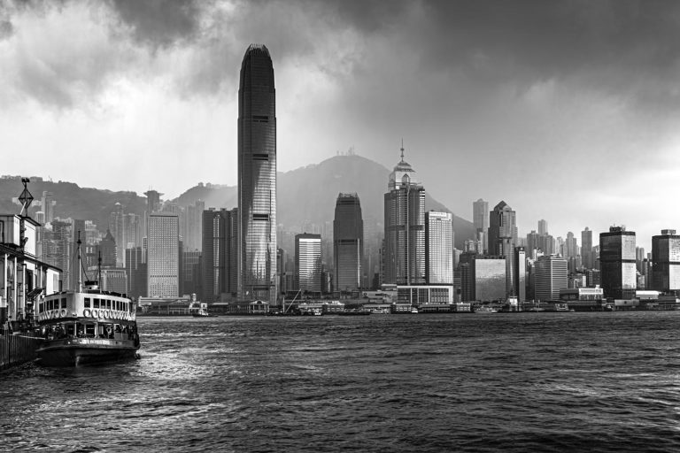 Hong Kong during a Typhoon