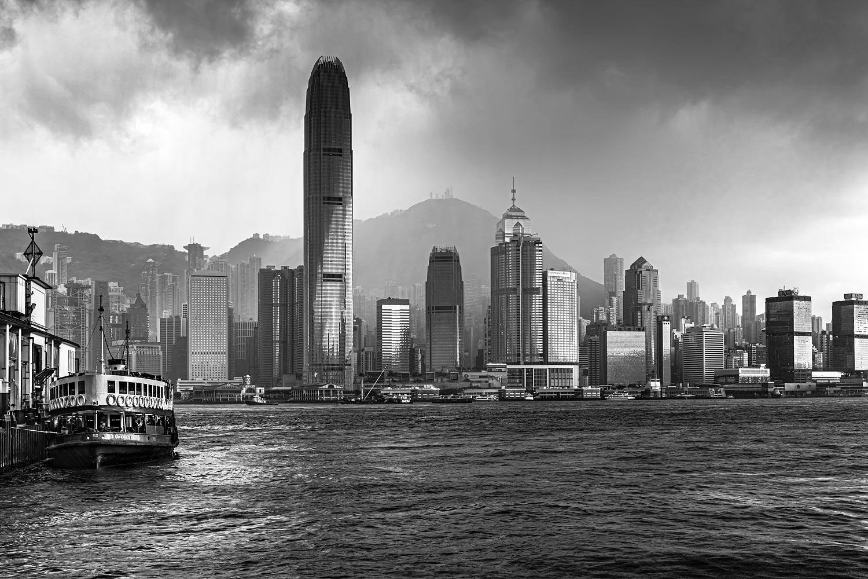 Hong Kong during a Typhoon