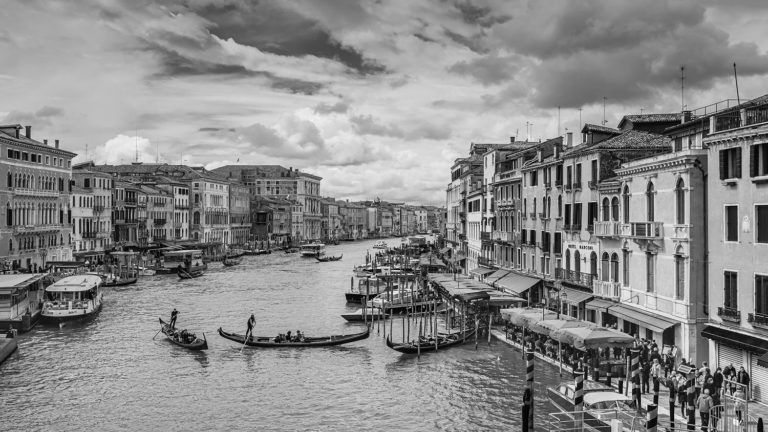 Venice, Italy - The Grand Canal in Black and White