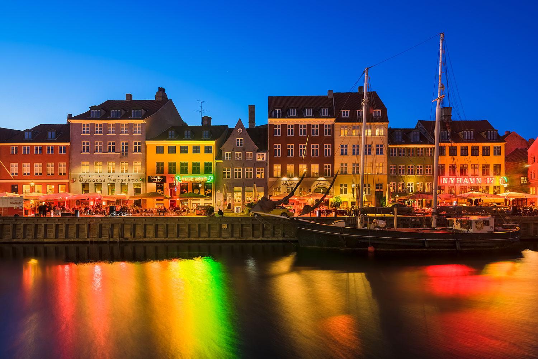 Copenhagen, Denmark - Nyhavn at Night