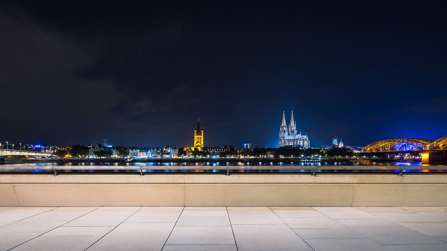 Cologne Skyline at Night, Germany