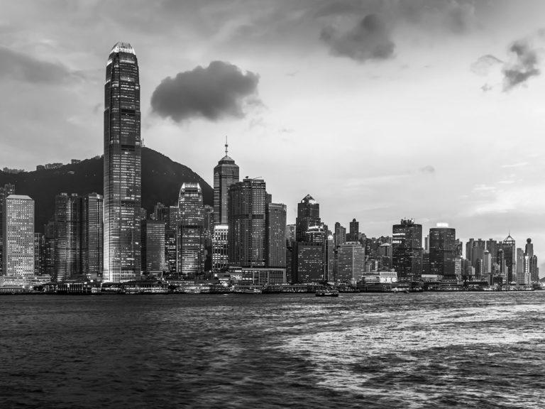 The Skyline of Hong Kong Island