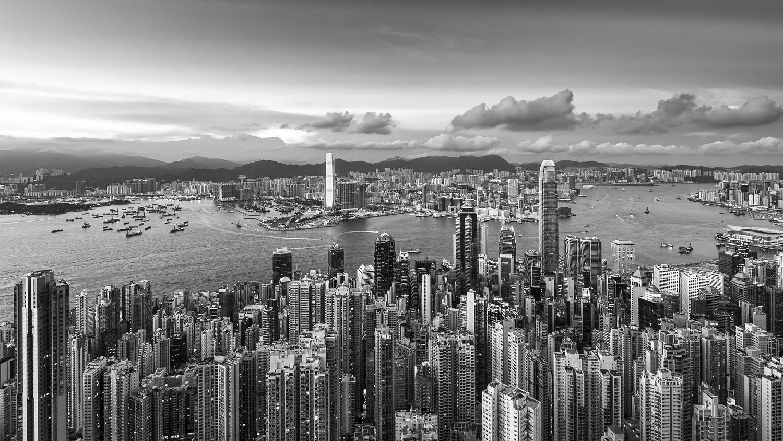 Evening Panorama of Hong Kong