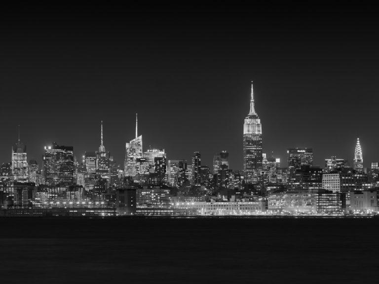 The Midtown Manhattan Skyline at Night, New York City