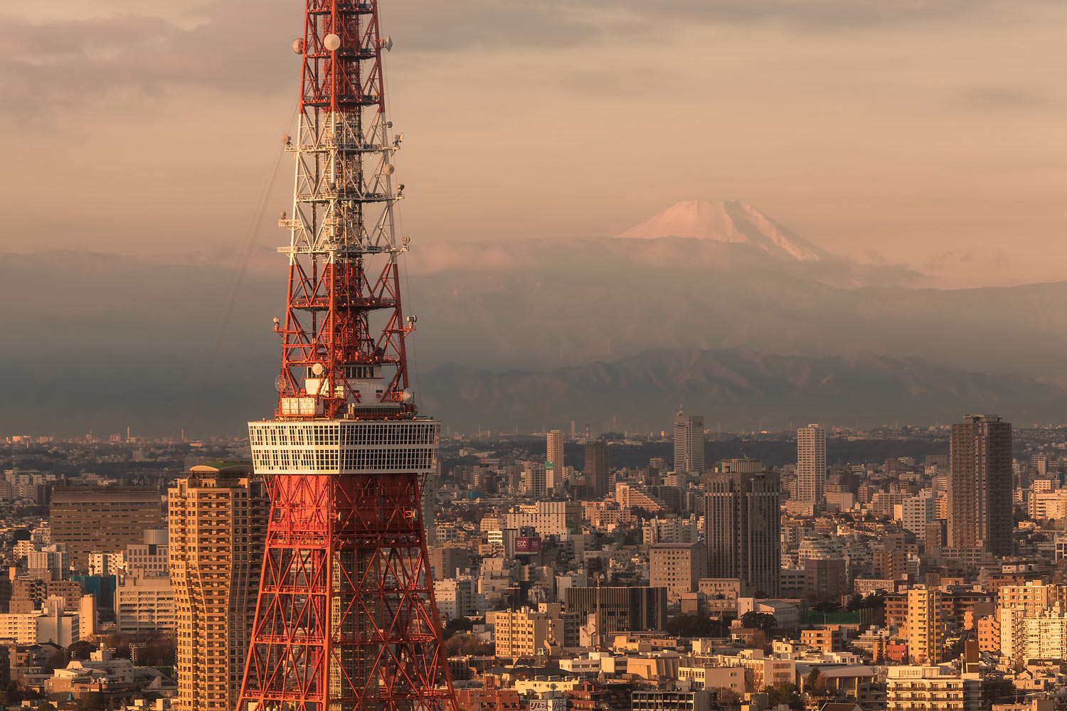 The Tokyo Tower and Mt. Fuji at Sunrise